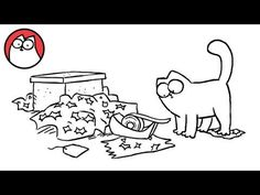 Simon's Cat in 'Sticky Tape'  There are a whole bunch of these adorable little cartoons. You'll die laughing!