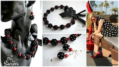 Ожерелье и Серьги из Ниток Ежевика  Украшение от OlgaShestova