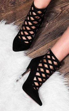 Freda Zip Pointed Toe High Heel Stiletto Shoes... - SilkFred