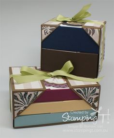 Stampin' Up! Stamping T! - Box-N-Wrap Sets  I love, love, love this boxed stationery set! I might have to offer this as a class. Email me if you'd be interested in this class!
