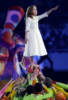 Description of . Artists perform during the opening ceremony of the 2014 Winter Olympics in Sochi, Russia, Friday, Feb. 7, 2014. (AP Photo/M...