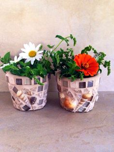 A personal favorite from my Etsy shop https://www.etsy.com/listing/229546778/mosaic-flower-pot-succulent-planter