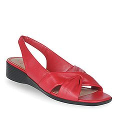 Red, Black, Bige, ivory, navy, white    LifeStride Women's Mimosa Sling Sandals :: Casual Sandals :: Shop now with FootSmart