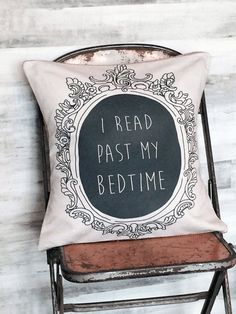 Pillow Cover Book Lover I Read Past My Bedtime by Jolie Marche
