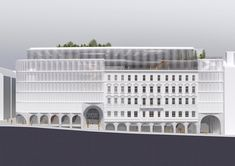 OMA has won a competition to design the new kadewe department store and hotel in vienna located in the city's museumsquartier. Green Terrace, Loft Interior, Vienna Hotel, Win Competitions, New Staircase, Vienna Secession, Public Seating, Adaptive Reuse, Hotel Lobby