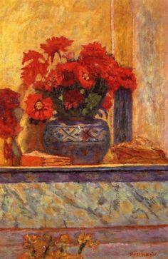 Red Flowers~Pierre Bonnard