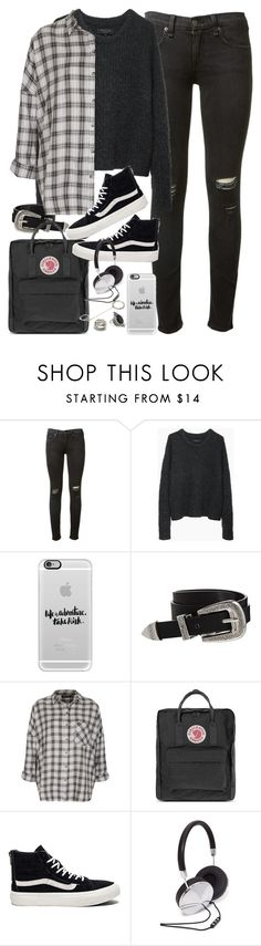 """Outfit for uni with Vans and a flannel"" by ferned ❤ liked on Polyvore featuring rag & bone, Casetify, ASOS, Topshop, Fjällräven, Vans and Forever 21"