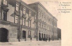 Budynek dawnego Gimnazjum przy ul. Zamojskiego. Z archiwum Wiesławy Karczewskiej. Galeria: Dawne widokówki.