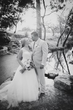 Bride and groom black and white portrait | Dana and Cody's Texas ranch wedding | Shelly Taylor Photography | Wedding Wishes Wedding Guide