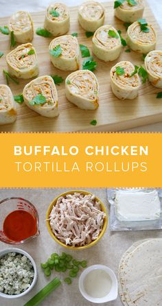 Serve up buffalo chicken tortilla rollups for the ultimate super bowl party snack. Click through for the recipe.