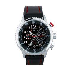 Top Brand Luxury Curren Fashion Leather Strap Analog Men's Quartz Watch Casual Sports Business Watches relogio masculino
