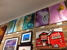 My pieces at Marty Campbell Gallery :) so cool :) #art at an #awesome #gallery