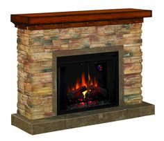 For Basement- Grand Canyon Fireplace Set