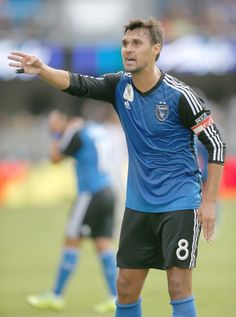 San Jose Earthquakes forward Chris Wondolowski argues a call by the referee during the first half against Real Salt Lake in an MLS soccer match Sunday, Sept. 27, 2015, in San Jose, Calif.
