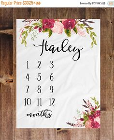Milestone Blanket Month Blanket Baby Baby Growth Tracker Soft