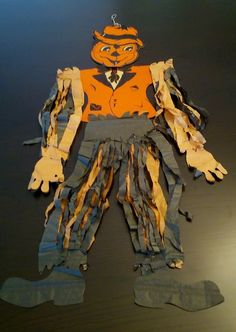 Vintage 1930-40's Beistle Halloween Scarecrow Full Size 34 Movable Head