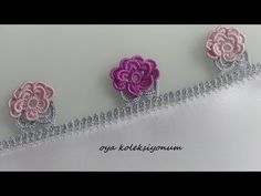Yeni Bir Fıstık Oyası - YouTube Diy And Crafts, Elsa, Floral, Flowers, Youtube, Jewelry, Design, Diy Kid Jewelry, Ear Rings