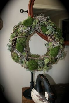 Calico Rabbit: Moss Wreath Tutorial
