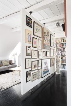 gallery wall dividing space