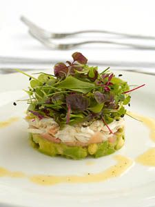 Avocado and Dungeness crab