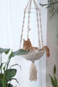 Cat Window Hammock, Diy Cat Hammock, Diy Cat Bed, Cat Tent, Homemade Cat Beds, Diy Cat Shelves, Cat Bedroom, Cat Accessories, Christmas Gifts For Mom
