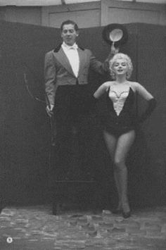 Marilyn and Milton Berle. Madison Square Garden Charity Circus Gala, March 1955. Photo by Milton Greene.