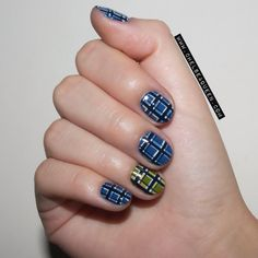 Marc by Marc Jacobs FW14-inspired nail art via Chelsea King