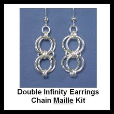 Chainmaille Kit with Tutorial Double Infinity
