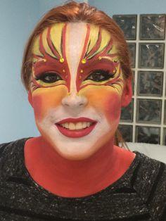 Makeup pájaro en el carnaval de Águilas Murcia. Viva el carnaval aguileño