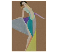 Tullio Crali. Design for a dress 1932. A futuristic fashion show from the past. #CraliKisyovaLazarinova