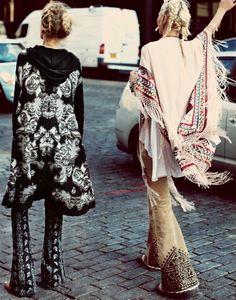 bohemian boho style hippy hippie chic bohème vibe gypsy fashion indie folk look outfit Boho Gypsy, Gypsy Style, Bohemian Style, Boho Chic, Modern Hippie Style, Bohemian Dresses, Bohemian Party, Boho Gown, Bohemian Chic Fashion