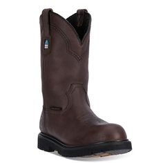 McRae Industrial Men's Waterproof Western Work Boots, Size: medium (12), Dark Brown