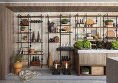 Kitchen Interior, Interior Design Living Room, Living Room Decor, Kitchen Decor, Tattoo Studio, Muebles Living, Bookcase Styling, Living Comedor, Inspired Homes