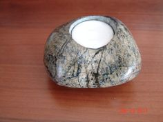 Items similar to handmade Candle Holders olivine Granite natural stone polished crafted by hand Stradivariu Candle on Etsy Handmade Candle Holders, Contemporary Sculpture, Beach Stones, White Candles, Natural Stones, Granite, My Etsy Shop, Shapes, Abstract