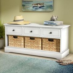 online shopping for Santa Cruz Solid Wood Drawer Storage Bench Beachcrest Home from top store. See new offer for Santa Cruz Solid Wood Drawer Storage Bench Beachcrest Home Drawer Storage Unit, Entryway Bench Storage, Bench With Storage, Diy Storage, Storage Spaces, Storage Benches, Shoe Storage, Custom Cushions, Wood Drawers