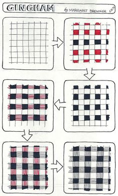 Enthusiastic Artist: GINGHAM tangle instructions