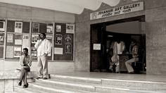Entrance of Jehangir Art Gallery in Mumbai, India