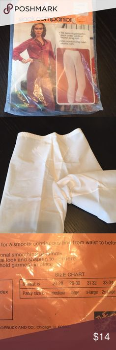 Vintage leg pant shaper L new New vintage shaper/girdle that hits below the knee for a slinger leg.  These are all white, new in package from Sears in size large.  Estimated from the 1970s large fits waist size 29/30 inches. Vintage Intimates & Sleepwear Shapewear