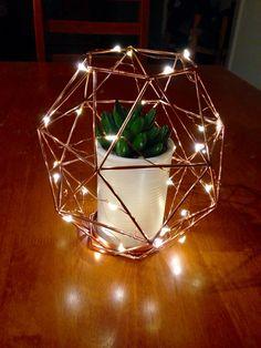 Kmart twinkle lights... Kmart copper candle holder... Kmart cactus pot!