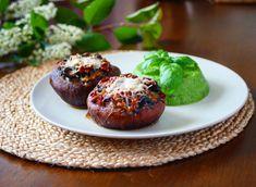 plněné portobello s hráškovým pyré Portobello, Pina Colada, Naan, Tahini, Gnocchi, Hummus, Baked Potato, Sprouts, Red Velvet