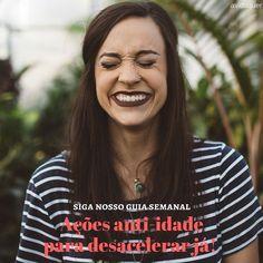 """Hoje no blog tem o segundo texto da série """"ações anti-idade"""" e as quatro dicas são agradáveis para incorporar no cotidiano: exercícios gargalhadas sexo e caminhada.  Leia e compartilhe: http://ift.tt/2l0lmgd #aos44 #entreinosenta #novos40 #saude #bemestar #qualidadedevida #coach #30tododia #agentenaoquersocomida #avidaquer @avidaquer por @samegui http://ift.tt/2kEVeLq"""