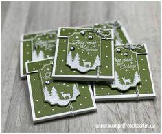 Weihnachten-Teebeutelverpackung, dekoriert mit den Produkten von Stampin`Up!
