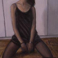 "Lorenzo Sammartino aka Rolli (rolli.art) on Instagram: ""Noemi II #Oil on #panel #girl #beauty #art #oilpainting #painting #fashion #realism…"""