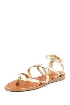 Carrini Crisscross Strap Sandal