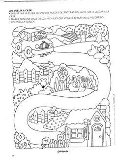 Family car ride tracing page Montessori Activities, Motor Activities, Infant Activities, Mazes For Kids, Summer Activities For Kids, Preschool Writing, Preschool Worksheets, Miracles Book, Häkelanleitung Baby