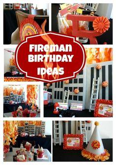 Fireman Birthday Party Celebration {Fire Truck Ideas} - www.spaceshipsandlaserbeams.com