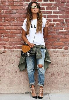 logo tees are the must-have you didn't know you needed. #streetstyle #fashion #inspo