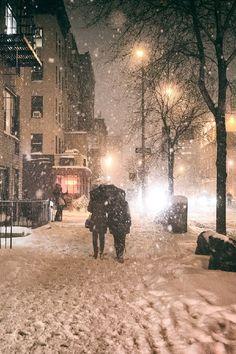 Under an umbrella - Janus Snowstorm, New York City | by: Vivienne Gucwa