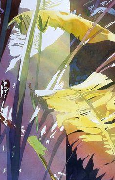 Игра света и тени в тропических акварелях американской художницы Jaimie Cordero. Майами.  Artist Jaimie Cordero. Watercolor.