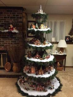 Image result for christmas village ladder display